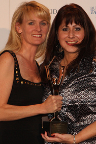 PK Walsh Stevie Award Presented by Carolyn Kepcher